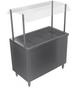 SALAD BAR BIG COOK 3DEP 110X60X145CM ELECT