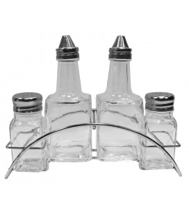 ALCUZA ARC 150ML/69ML VIDRIO TRANSP SET 4PZS
