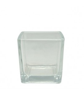 POCILLO PARTY CUBO 5,5X5,5X5,5CM VID TRANSP (D)